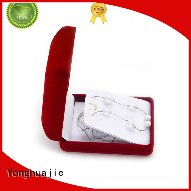 Yonghuajie High-quality velvet ring box wholesale company for wedding rings